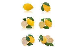 Set of fresh citrus.