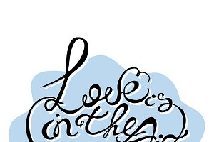 Love is in the air vector phrase
