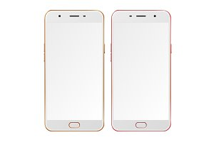 Gold  and rose smart phones
