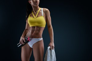 Beautiful slim healthy body