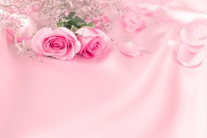 Rose with sweet love background
