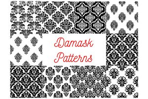 Damask vector patterns