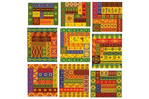 Vector african ethnic ornaments