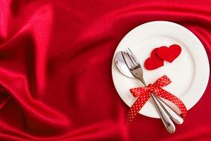 Red love dinner
