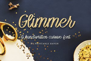 Glimmer Cursive Font