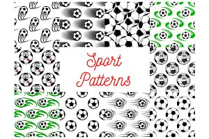 Soccer or football seamless patterns