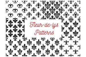 Fleur-de-lys royal french patterns