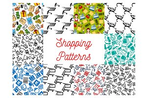 Shopping and retail seamless pattern