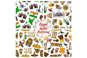 Egypt and India culture patterns