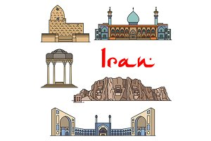 Iran architecture and sightseeings