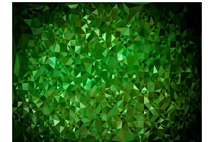 Abstract triangular green background