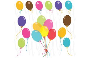 Party Balloons Clip Art