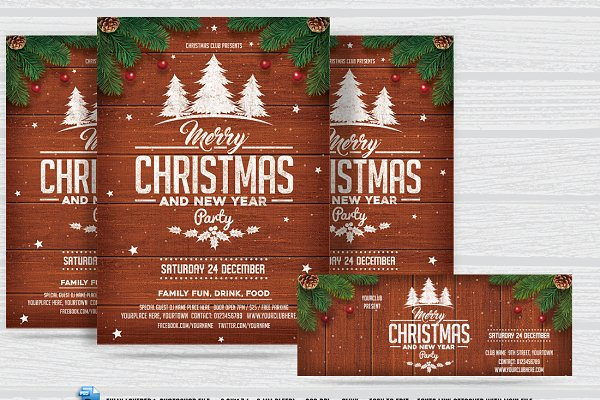 Christmas& New Year Party Flyer