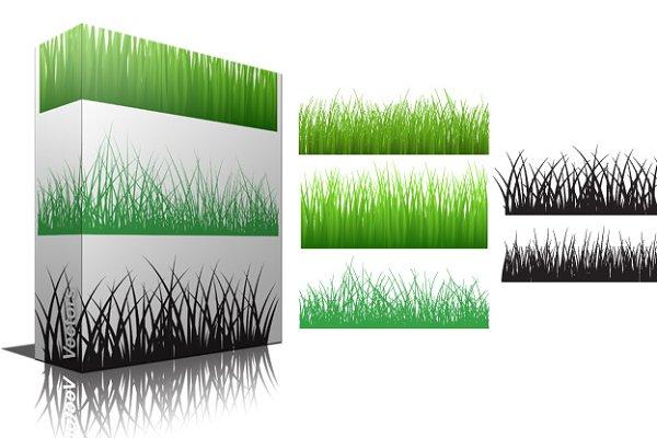 Grassline Vector & Brushes