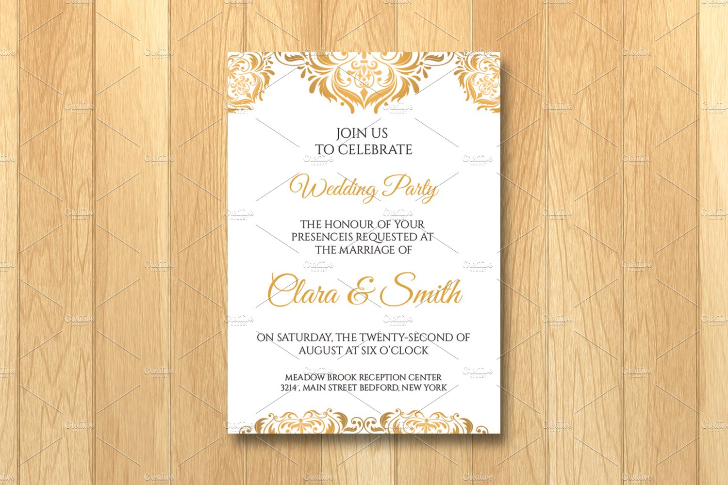 Wedding Invitation Card Template ~ Invitation Templates ~ Creative ...