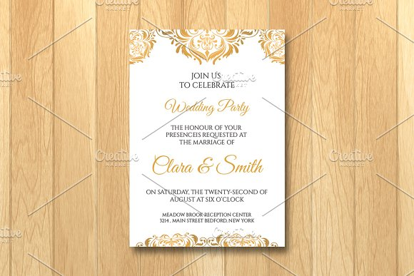 Wedding Invitation Card Template Invitation Templates Creative – Templates for Invitation