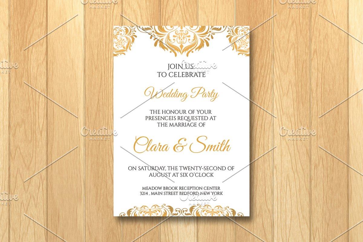 Wedding Invitation Card Template Wedding Templates