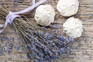 Lavender and meringue