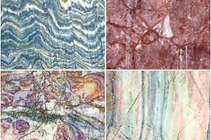 Set of marble stone texture