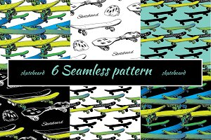 Skateboards Seamless Patterns