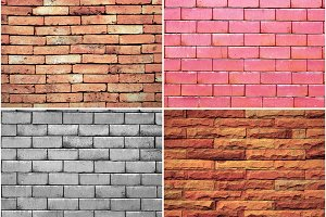Set of brick wall