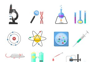 Lab symbols science vector