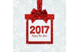 Happy New Year 2017 background.