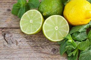 Lemon, lime, mint