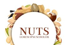 Frame with different nuts