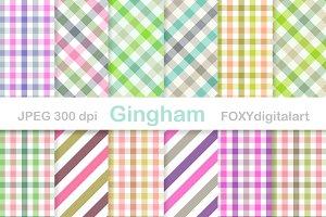Gingham Digital Paper Pack