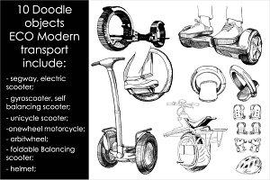 Alternative, Modern Doodle transport