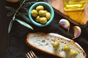 oil of olive give of bread