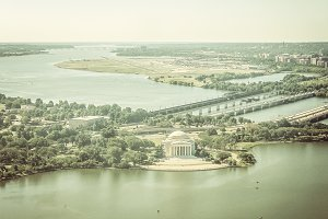 View on Jefferson Memorial