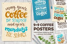 Coffee Lettering | Posters | Cards