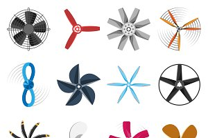 Vector propellers icons