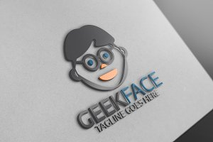 Geek Face Logo