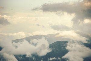 Cloudy Mountains landscape