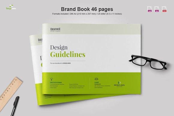 landscape brand book brochure templates creative market. Black Bedroom Furniture Sets. Home Design Ideas