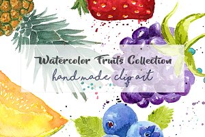 Watercolor Fruits ClipArt Pack