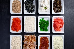 Ingredients for sushi