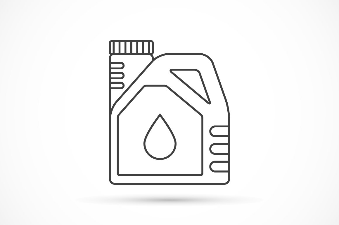 Engine oil outline icon ~ Icons ~ Creative Market