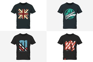 Vector t-shirt design set