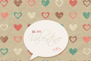 Grungy Valentine's Day Vector