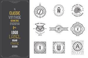 9 Vintage Classic Logo Templates