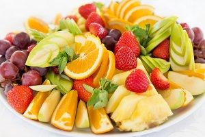 Fresh fruit cuts salad