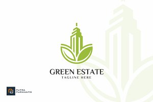 Green Estate - Building Logo
