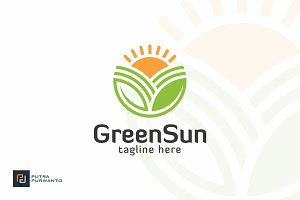 Green Sun - Farm Logo