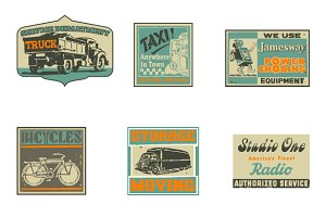 Vintage Advertising Vector Labels