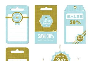 Retro Sale Tag Vectors