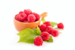 Fresh aroma raspberries